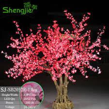 2017 sale 350cm artificial indoor outdoor lighted cherry blossom