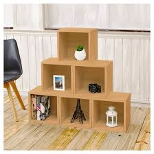Desk Cubby Organizer Way Basics Stackable Eco Cube Storage Cubby Organizer Natural