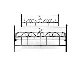 metal bed king size bed frame 160x200 cm black lepus