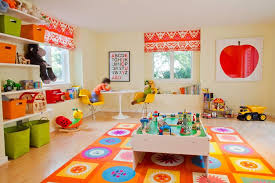 Area Rug For Kids Room by Interior Colorful Wall Painted For Small Kids Playroom Design