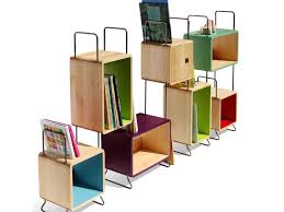 Green Bookcase Nonah U0027s Modular Bookcase Bursts With Color And Green Design