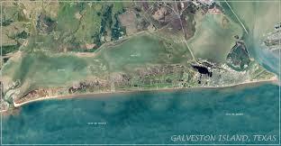 galveston island map galveston island aerial photo map galveston aerial photo