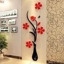 wall sticker design custom boiler com wholesale wall stickers acrylic 3d plum flower vase vinyl art diy home decor decalwall for living