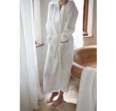 Full Length Bathrobe Soft Linen Robe Rough Linen Pure 100 Linen Bathrobe
