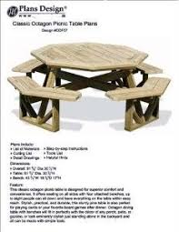 How To Build A Wooden Octagon Picnic Table by Picnic Table Plans Octagon Picnic Table Free And Easy Diy
