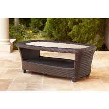 Patio Furniture From Home Depot - hampton bay spring haven brown all weather wicker patio coffee