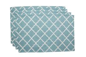 Table Place Mats Wholesale Set Of 4 Quattrefoil Woven Table Placemats 13