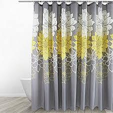 amazon com eforgift floral fabric shower curtain waterproof