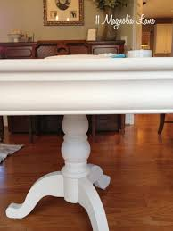 Paint Dining Room Table White Chalk Painted Dining Room Table Monogrammed Chairs 11