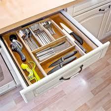 organiseur de tiroir cuisine relaxdays range couverts organiseur de tiroir de cuisine en bois