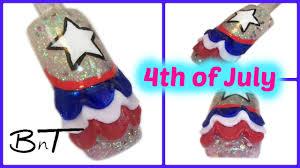 4th of july 3d nail art acrylic nails e035 youtube