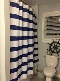 Nautical Bathroom Curtains Navy And White Shower Curtain And Horizontal Striped Print Also