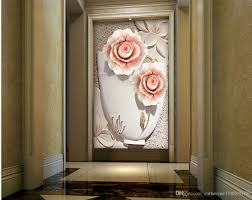 Wallpaper For Living Room European Embossed Flowers 3d Stereo Murals Arcade Aisle Backdrop