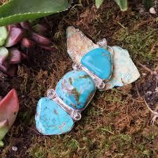 turquoise stone three stone turquoise pendant carico lake and royston turquoise
