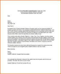 3 in kind donation letter template adjustment letter