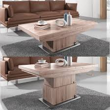 adjustable coffee dining table elgin convertible and extendable dining table with 6 demi