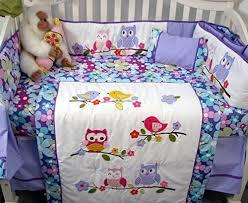 Soho Crib Bedding Set Soho Lavender Owls Baby Crib Nursery Bedding Set 14 Pcs A