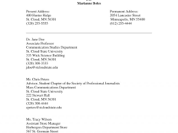 Resume Reference Page Format References Format Resume Resume Example References On A Resume