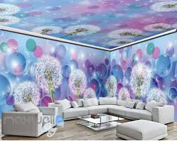 ceiling wall murals idecoroom 3d dandelion dream world ceiling wall murals wallpaper decals art print idcqw 000314