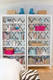 Diy Bookshelves Cheap by So Easy Just A Little Wallpaper Over The Back Of A Cheap Bookcase