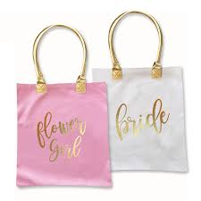 bridal party tote bags gold bridal party tote bag gift shop wedding favors party