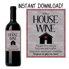 house warming gift new home gift house warming wine label