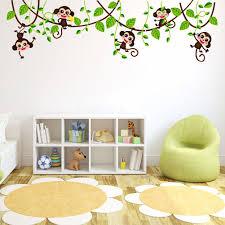 popular monkey wall decor buy cheap lots from wall stickers monkey tree animals children room decor china mainland