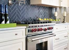 Light Blue Kitchen Backsplash by White Kitchen Cabinets Blue Backsplash Ellajanegoeppinger Com