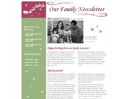 christmas newsletter template christmas newsletter