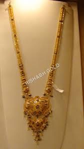 gold rani haar sets rani haar necklace rishabh gold jewels india limited