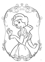 snow white coloring book dibujos para colorear de princesas disney printable pinterest