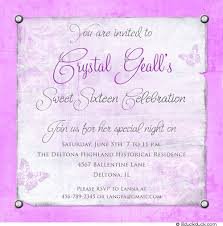 butterfly sweet 16 invitation purple birthday