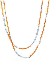 orange bead necklace images Orange bead necklace shopstyle jpg