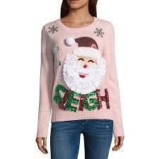 santa sweater santa sweater juniors jcpenney