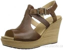 canada timberland women u0027s danforth wedge sandal dark tan shoes