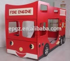 Fire Engine Bed Kid Fire Engine Car Single Dormitory Bed Children Furniture