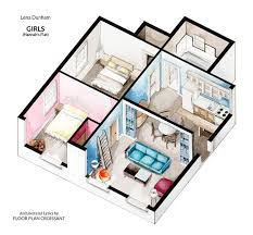 home design tv shows 2016 watercolor floorplans from recent television shows and films