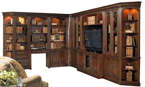 11 piece entertainment and office corner wall unit by hooker
