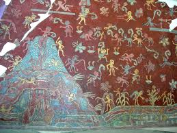 pintura maya bonampak buscar con google precolombino a portion of the actual mural from the tepantitla compound which appears under the great goddess portrait