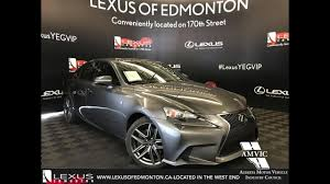 lexus north west uk used gray 2014 lexus is 350 executive f sport package walkaround