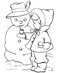 snowman coloring picture 011