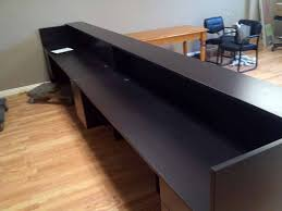 Reception Counter Desk Custom Reception Station Glennie S Office Products