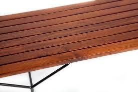 Slat Bench Coffee Table Harry Bertoia Walnut Slat Bench Or Coffee Table Designed For Knoll