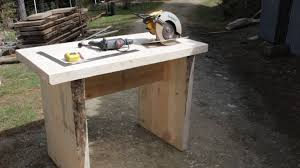 how to build a solid slab wood table using basic tools took less