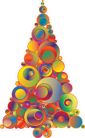 clipart colorful abstract circles christmas tree 5
