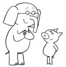 coloring pages elephant and piggie coloring page elementary library pinterest mo willems