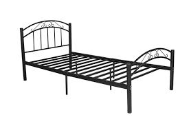 king single bed frame black sturdy metal frame 6 legs