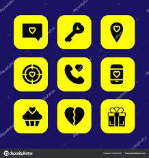 imagenes de desamor san valentin conjunto de iconos de vector de san valentín amor desamor carta