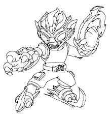 surprising skylanders eye brawl coloring pages with trap team