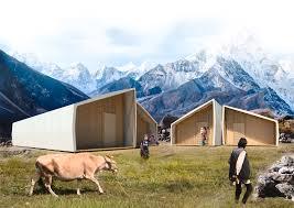 barberio colella arc diseña casas desplegables para la